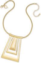 Thalia Sodi Gold-Tone Geometric Collar Pendant Necklace, Only at Macy's