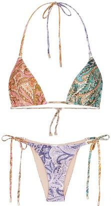 Zimmermann Brighton Printed Triangle Bikini