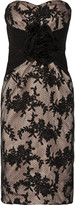 Mikael Aghal Rosette-embellished lace dress