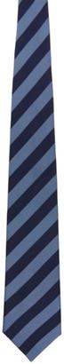 Comme des Garçons Homme Deux Blue Silk Stripe Tie