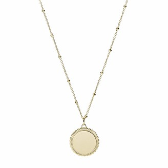 Fossil Women's Scalloped Disc Gold-Tone Stainless Steel Necklace