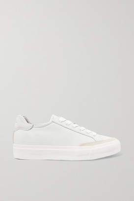 Rag & Bone Army Suede-trimmed Leather Sneakers - White