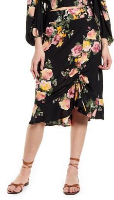 Band of Gypsies Siena Floral Print Skirt