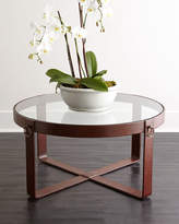 Interlude Home Lancaster Leather Coffee Table