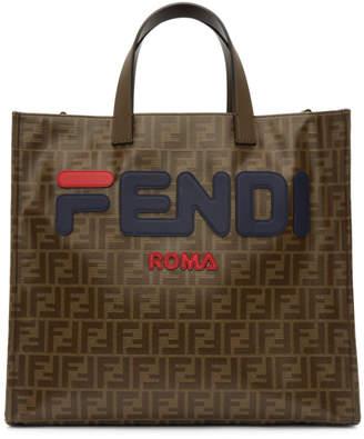 Fendi Brown Mania Shopping Tote