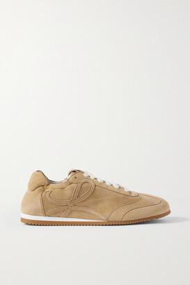 Loewe Ballet Suede Sneakers - Neutrals