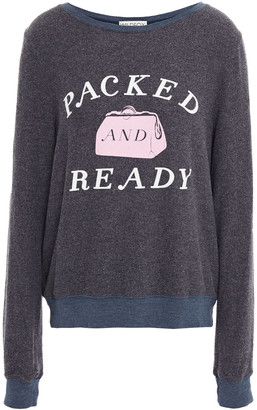 Wildfox Couture Printed Fleece Top