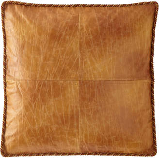 Dian Austin Couture Home Hamaden Boxed Faux-Leather European Sham