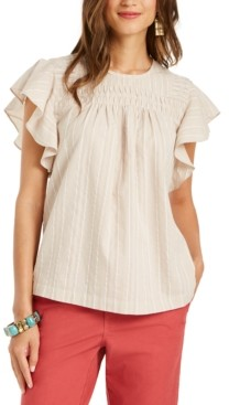 Style&Co. Style & Co Petite Flutter-Sleeve Top, Created for Macy's
