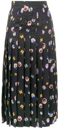 Christopher Kane Pansy Printed Skirt