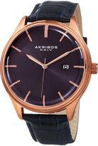 Akribos XXIV Mens Black Strap Watch-A-914bu