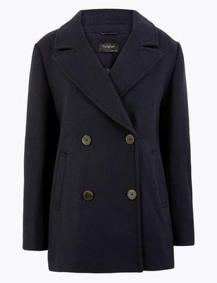 AutographMarks and Spencer Tailored Double Breasted Coat