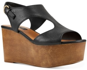 Nine West Edge Platform Wedge Sandals Women's Shoes