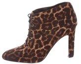 Diane von Furstenberg Ponyhair Leopard Booties