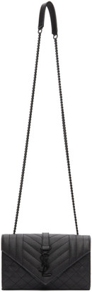 Saint Laurent Black Small Envelope Bag