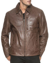 Andrew Marc Hanover Leather Moto Jacket