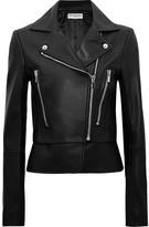 Balenciaga Leather Biker Jacket - Black