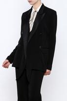 Nicole Miller Tie Tux Blazer