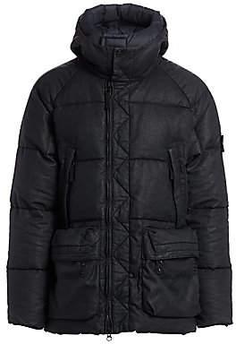 Stone Island Men's Coated Linen Puffer Jacket