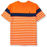Ralph Lauren Boys 8-20 Short Sleeve Striped Cotton Jersey Tee