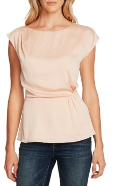 Vince Camuto Extended-Shoulder Cinched-Waist Blouse