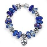Bling Jewelry 925 Silver Grandma Dangle Heart Bead Bracelet Fits Pandora