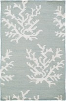 The Well Appointed House Surya Ivory Coral on Sky Blue Rug-Available in a Variety of Sizes