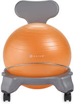 Gaiam Gray & Orange Kids Balance Ball Chair