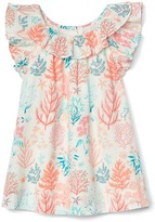 Gap Coral reef ruffle dress