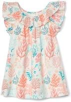 Gap Coral reef ruffle dress