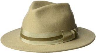 Henschel Men's 100% Wool Felt Outback with Striped Grosgrain Band