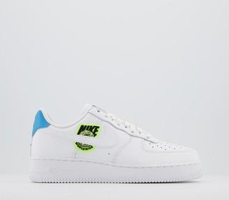 Nike Force 1 07 Trainers White White Volt Laser Blue Black