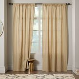 west elm Linen Cotton Curtain - Flax