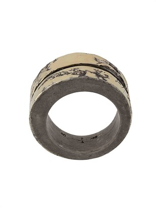 Parts Of Four 18kt gold Crevice layered-style ring