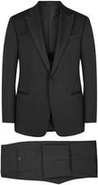 Armani Collezioni Black Wool Tuxedo Suit