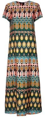 La DoubleJ Swing Print Silk Maxi Dress