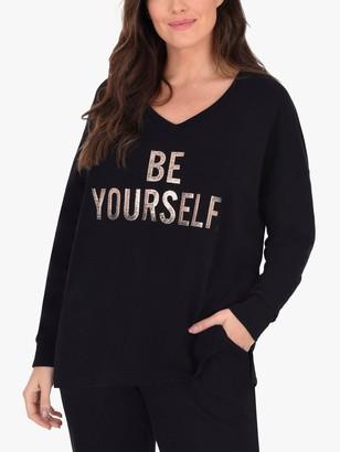 Live Unlimited Curve Be Yourself Sweatshirt, Black/Multi