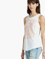 Lucky Brand Coral Embroidered Tank