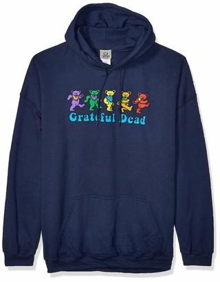 Liquid Blue Unisex-Adult's Plus Size Grateful Dead Dancing Bear Fleece Pullover Hooded Sweatshirt