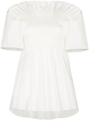 Totême x Browns 50 smocked short-sleeve blouse