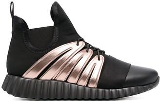 Salvatore Ferragamo Wavy Sole Hi-Top Sneakers