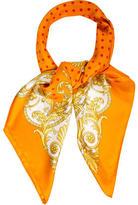 Versace Silk Polka Dot Scarf