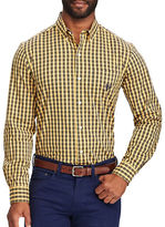 Chaps Big and Tall Plaid Stretch Poplin Shirt