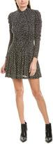 Rebecca Taylor Cheetah A-Line Dress