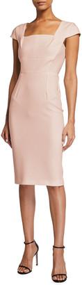 Roland Mouret Jeddler Square-Neck Sheath Crepe Dress
