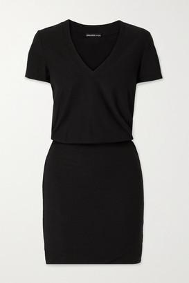 James Perse Stretch-cotton Jersey Mini Dress - Black