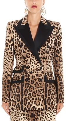 Dolce & Gabbana Animalier Print Blazer