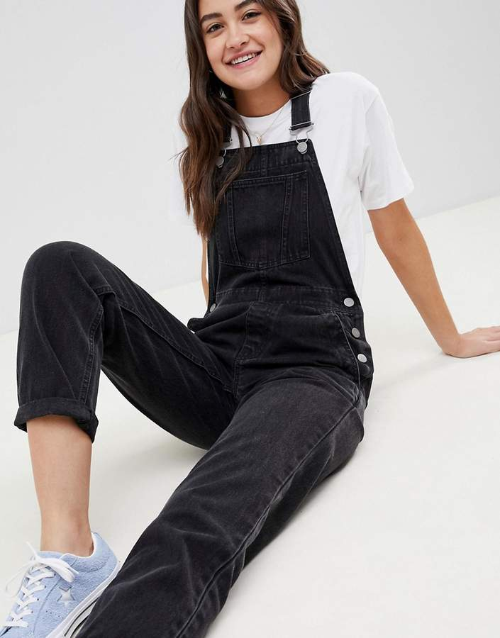 f023bb3f17d Black Denim Overalls - ShopStyle