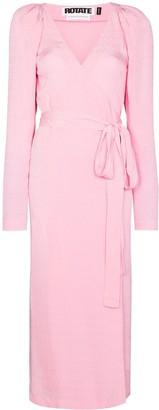 Rotate by Birger Christensen Bridget wrap midi dress