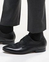 Ted Baker Leam Leather Derby Shoes - Black